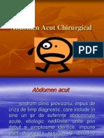 Abdomen Acut Chirurgical Curs