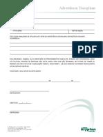 Formulário de Advertência (RH)