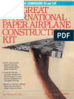 The Great International Paper Airplane Construction Kit