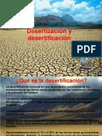 desertización y desertificación
