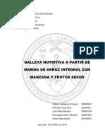 Proyecto Galleta Nutritiva