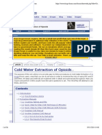 Cold Water Extraction of Opioids