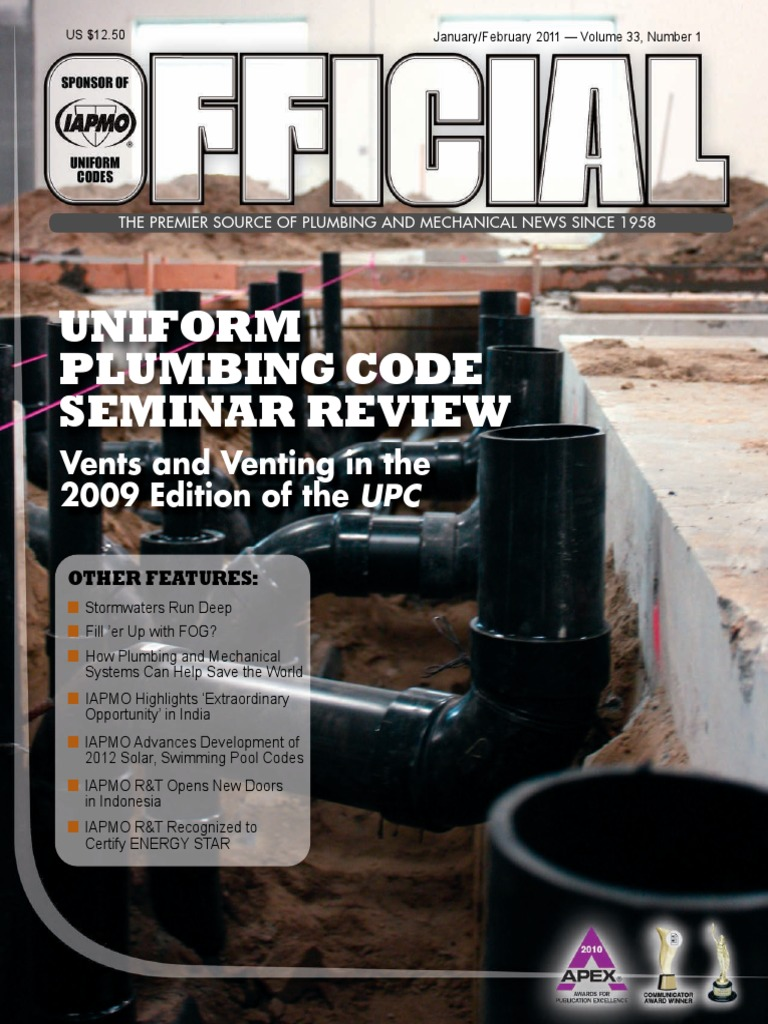 Uniform Plumbing Magazinepdf Stormwater Combined Sewer