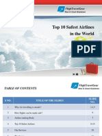 Top 10 Safest Airlines Ranking