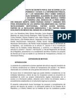 Iniciativa de Ley General de Transparencia y Acceso a la Información Pública. 1 Dic. 2014.