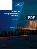 KPMG CII Ease of Doing Business in India