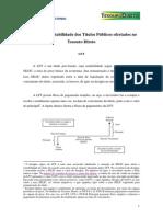 Cálculo Da Rentabilidade Dos Títulos Públicos Ofertados via Tesouro Direto - LFT