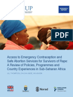 Access to Emergency Contraception and Safe Abortion Services for Survivors of Rape