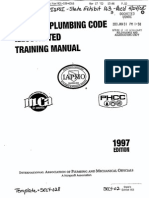 Uniform Plumbing Code Training Manual