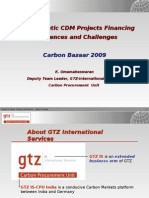 Programmatic CDM Projects Financing Experiences and Challenges Carbon Bazaar 2009. Presentation