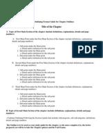 basic outlining format
