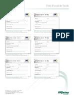 Formulário de Protocolo para envio das notas fiscais de saída (Contabilidade)