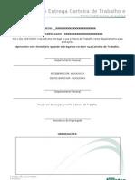 Formulário de Protocolo com recibo da Carteira de Trabalho (RH)