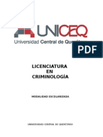 Plan de Estudio Criminología UNICEQ