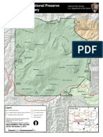 Map of the Valles Caldera National Preserve