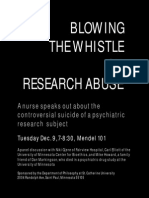 Blowing the Whistle on Research Abuse flyer