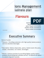 Business Plan of Bakery- Flavours