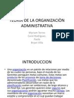 Teoria de La Organizaciòn Administrativa