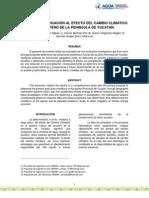 Medidas de Mitigación Al Efecto Del Cambio Climatico en Acuifero de La Peninsula de Yucatan
