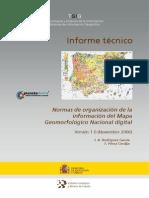 Normas Organización de La Info Del Mapa Geomorfológico Nacional Digital_IGME