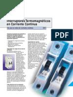 Interruptor Termomagnetico DC