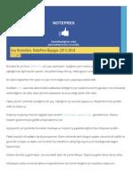 SEO Hizmetleri, NotePrex Büyüyor 2013-2014