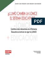 Resumen Sobre Como Afecta La LOMCE Al Sistema Educativo