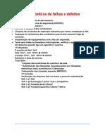 Diagnósticos de Falhas e Defeitos