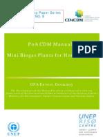 PoA CDM manual mimi biogas plants for household