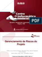 Gerenciamento de Riscos - 2011