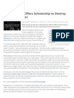 Web Designer Offers Scholarship to Destroy Internet Explorer