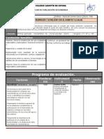 Plan y Programa de Evaluacion Tercer Bimestre