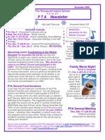 The Roosevelt Island School (P.S./I.S. 217) December 2009 PTA Newsletter