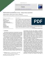 Multimethod Quantification of Agþ Release From Nanosilver