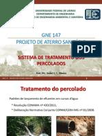 Gne 147 - Projeto de Aterro Sanitario - Aula 09- Sistema de Tratamento Dos Percolados