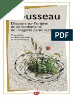 Bachofen Blaise Et Bruno Bernardi Presentation Rousseau Discours Sur l Origine Et Le Fondements de l Inegalite Parmi Les Hommes