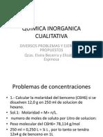 Quimica Inorganica Cualitativa Problemas Pptx