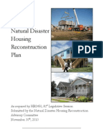 Natural Disaster Housing Reconstruction Plan