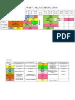 Jadual Waktu Kelas Tahun 2
