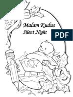 Malam Kudus - Buku Mewarnai - Silent Night Coloring Book