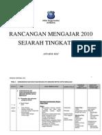 Rancangan Mengajar Tahunan Sejarah Tingkatan 2 2010