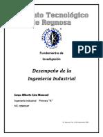 Desempeño de La Ing. Industrial