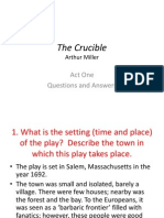 The Crucible Act I Questions Answered