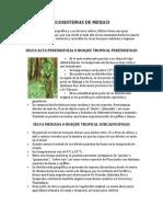 Ecosistemas de Mexico