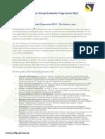 Volvo Graduate Programme 2015