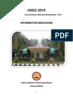 Information Brochure HSEE-2015