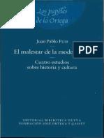 El Malestar de La Modernidad - Fusi, Juan Pablo