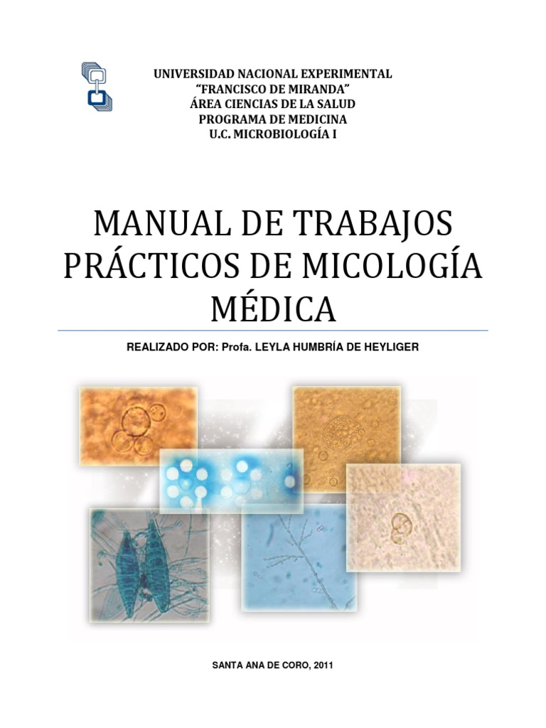 Manual de trabajos pr cticos de micolog a m dica for Manual de acuicultura pdf
