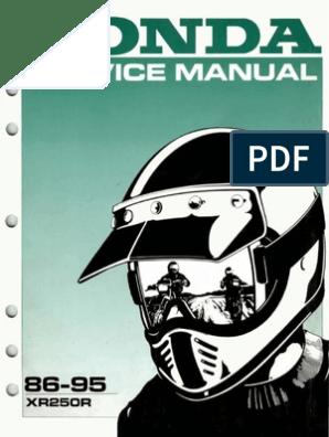 Honda Xr250r Service Manual Repair 1986-1995 Xr250   Motor Oil   on