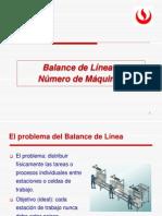 Balance de Línea y Num Máquinas